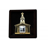 Jesus God Wooden Frame With Pure Silver Coin Of 7 Grams