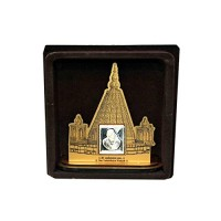 Sai Baba Wooden Frame With Pure Silver Coin Of 7 Grams