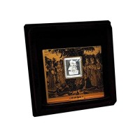 Radhe Krishna Wooden Frame With Pure Silver Coin Of 7 Grams