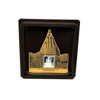 Goddess Laxmi Wooden Frame With Pure Silver Coin Of 7 Grams