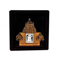 Balaji Wooden Frame With Pure Silver Coin Of 7 Grams